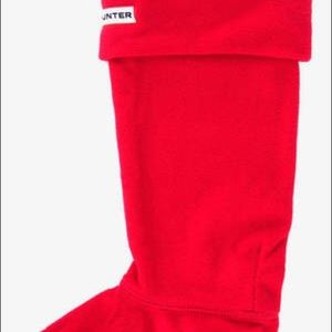 Hunter Tall Socks- White and Red (never used)